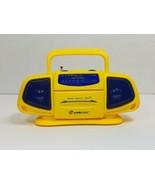 Original Baby Boom Box FM/AM Portable Mini Radio Yellow & Blue 1990's Li... - $19.59