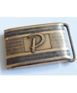 Vtg Hickok USA 10K Roll Gold Plate Front Initial Letter P Handmade Belt ... - $54.70