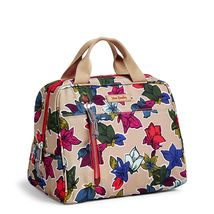 Vera Bradley Water-Repellent Lighten Up Lunch Cooler Bag,Falling Flowers Neutral