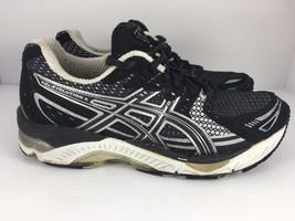 ASICS Gel Evolution 6 Women US 7.5 Black Athletic Running Shoes  J15 - $36.99