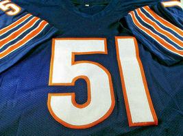 DICK BUTKUS / NFL HALL OF FAME / AUTOGRAPHED CHICAGO BEARS CUSTOM JERSEY / COA image 2