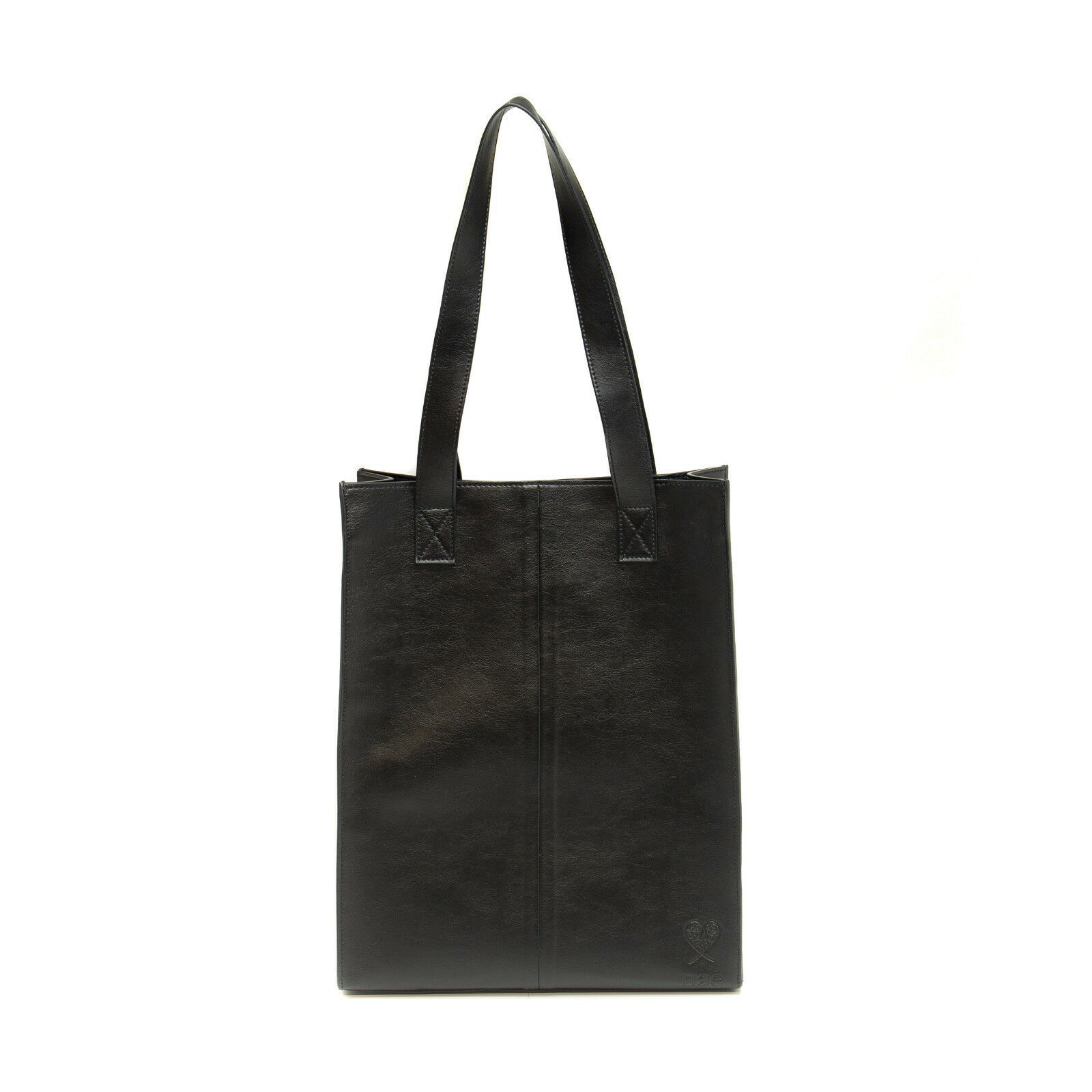 Primary image for Women Vegan Tote Bag Black Sustainable Ecological Silver Magnet Water-Resistant