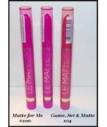 3 X L'Oreal Colour Riche Le Matte Lip Color 100 Matte for ME #104 Game s... - $12.95