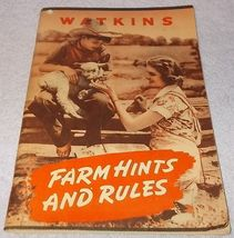 J. R. Watkins Co Farm Hints and Rules Advertising Booklet 1944 - $9.95