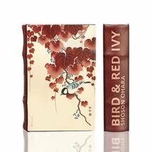 "Shoson Ohara ""Bird and Red Ivy"" Secret Book Box Handmade Wooden Keepsake - $24.74"