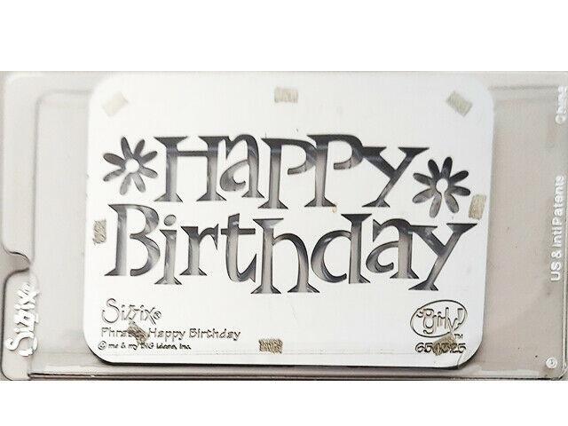 Sizzix Metal Embossing Plate, Happy Birthday #654525