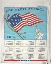 vintage 2005 god bless america country kitchen calendar tea towel - $9.90