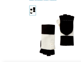KATE SPADE COLORBLOCK POP TOP FINGERLESS GLOVES MITTENS $52 New With Tag - $43.56