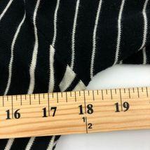 CAbi Cardigan Sweater Womens Small Black Stripe 3/4 Sleeve Ruffle Button B13-03P image 5