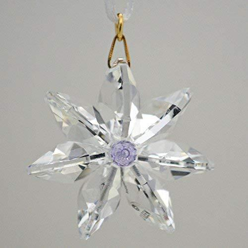 J'Leen Clear Crystal Daisy Violet Center