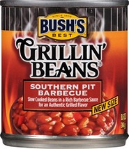 Bush's Best Grillin' Beans Southern Pit Barbecue Baked Beans, 8.6 oz 12 cans