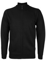 E-38 Italy Men's Slim Fit Luxury Wool Zip Up Pullover Hoodie Cardigan Sweater image 2
