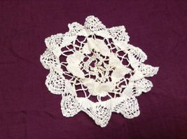 Vintage Hand Crocheted Table Pieces and White/Off white Table Cloth image 5
