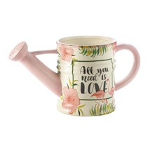 Flower Planters, Pink Flamingo Watering Can Decorative Outdoor Patio Pla... - €25,40 EUR