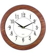 "Timekeeper 6415 12"" Wood Grain Round Wall Clock - $31.20"