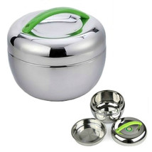 STAINLESS STEEL INSULATED LUNCH BOX 1 liter 30 oz Bento Tiffin Stacking ... - $18.88