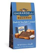 Ghirardelli Dark and Caramel Sea Salt Chocolate Squares Bag, 5.32-Ounce - $9.99