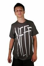 Neff Gnar Premium Fit Charcoal Heather Skater Tee Cotton Short Sleeve T-Shirt
