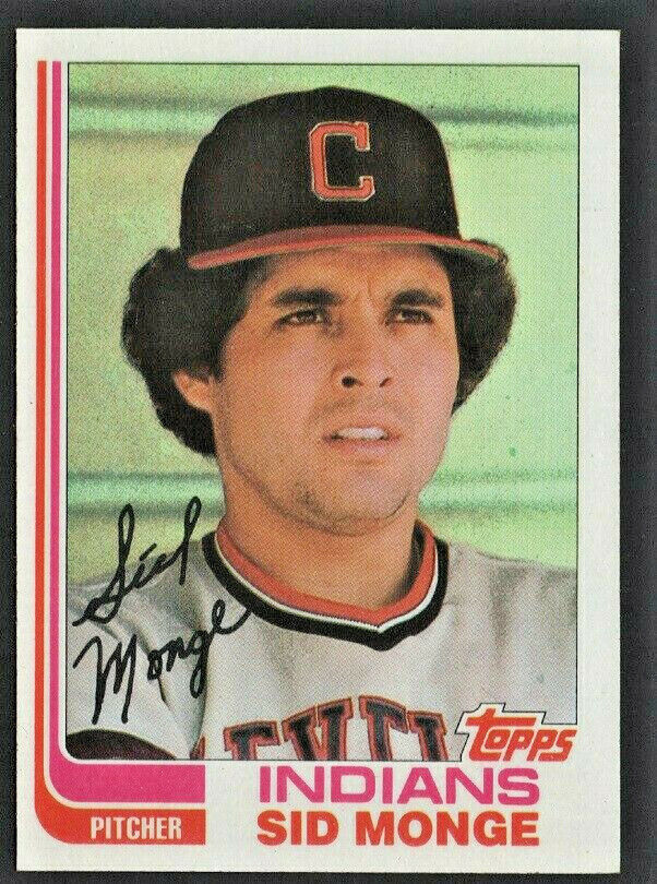 Primary image for Cleveland Indians Sid Monge 1982 Topps Baseball Card #601 nr mt