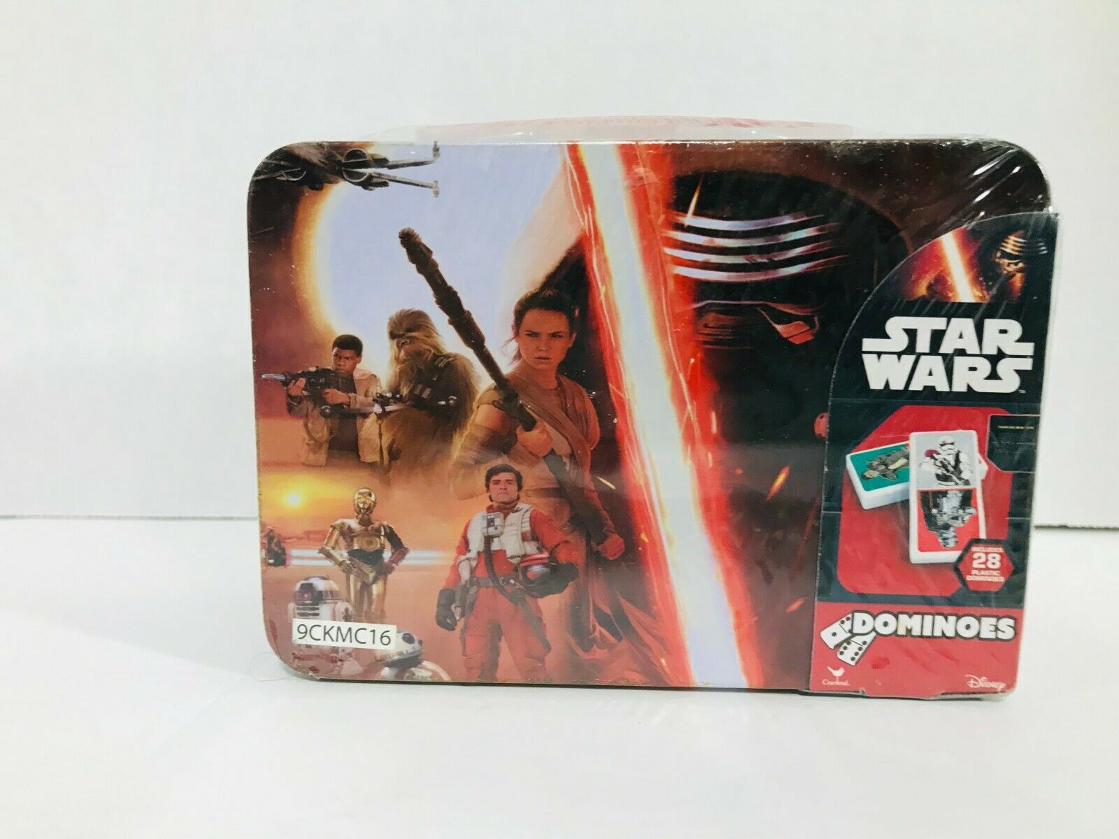Star Wars Dominoes 28 Pack Lunch Box Collectors Tin Case Game- The Force Awakens - $14.84