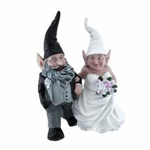 Wedding Couple Garden Gnomes Resin Figurines - $37.61