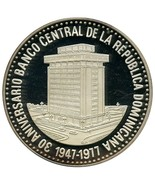 Dominican Republic 30 Pesos,78gSilver Coin,1947... - $69.99