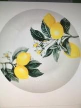 6 Lemon Printed Salad Plates SET OF 6 Salad Plates 7.5 in. - $23.50