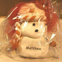 CHRISTMAS ORNAMENTS WHOLESALE- SNOWMAN- 13344- 'MATTHEW'-  (6) - NEW -W74 - $5.83