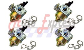 FOUR Honda GX340 11 hp Carburetor w/ 3 Piece Gasket Sets - $69.99