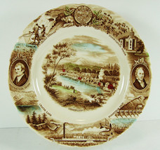 "Oregon Plate Johnson Brothers Meier & Frank England Multi Color England 10-3/4"" - $29.69"