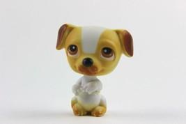 Littlest Pet Shop #40 White & Orange Begging Jack Russell Dog w/ Brown Eyes  LPS - $6.43