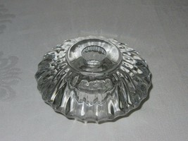 """BLOCK"" Crystal Vintage Clear Tealight Holder Candlestick Holder Round Ribbed - $19.79"