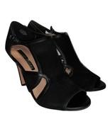 Audrey Brooke Women's Modena Black Suede Leather Peep Toe Casual Pump SZ... - $19.98