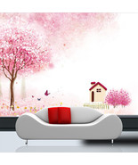 3D Pink Cherry Tree 873 Wall Paper Wall Print Decal Wall Deco Art Indoor... - $28.54+