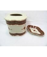 Croscill Bellissima Porcelain 2-PC Tissue Box Cover and Soap Dish - $35.00