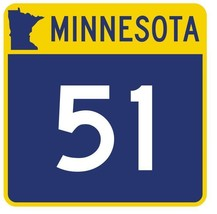 Minnesota State Highway 51 Sticker Decal R4743 Highway Route Sign  - $1.45+