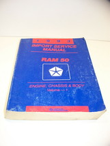 1993 Dodge Ram 50 Engine Chassis & Body Vol 1 + Electrical Vol 2 Service Manuals - $40.49