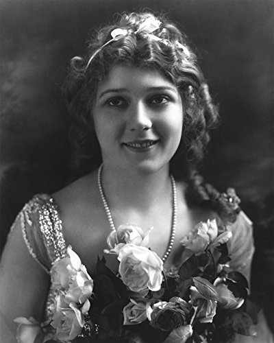 Primary image for Mary Pickford Elegant Portrait Flowers In Front Smiling 16X20 Canvas Giclee