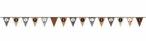 "Halloween Pendant Flag Banner 14 ft ""Happy Halloween"" Paper"