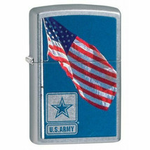 Collectable U.S. Army Flag Street Chrome Zippo Lighter - $28.45