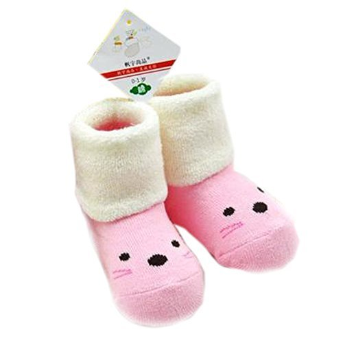 Pink Toddler Anti Slip Skid Shocks Baby Stockings Newborn Infant Shoes