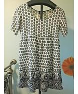 Asos Dress Size 12 Oversized Baby Doll Black and White Print ~ Winter Va... - $21.49