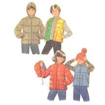 Vintage Simplicity Sewing Pattern 8809 Childs Jacket Coat Puffer Vest Ho... - $6.95