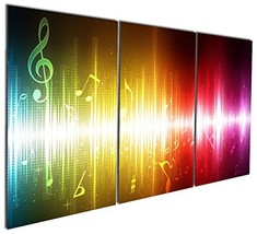 Gardenia Art - Beating Music Notes Canvas Wall Art Paintings Colorful Ab... - $20.00