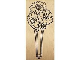 MOMR 2000 Flowers Rubber Stamp #H882 image 1