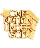 """10K or 14K Gold """"One Nation Under God"""" Lapel Pins - $162.99+"""