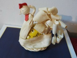 Corn Husk Doll   Chicken carring a decorated egg  (JQ) - $5.89