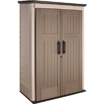 Rubbermaid Plastic Large Vertical Outdoor Storage Shed, 52-cu. ft., Beig... - $374.30