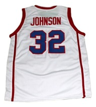 Magic Johnson #32 Vikings High School New Men Basketball Jersey White Any Size image 4