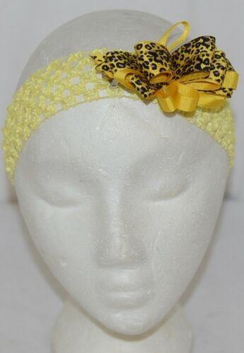 Unbranded Girl Infant Toddler Headband Removable Hair Bow Yellow Giraffe